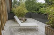 10860mm Length  L Shaped Planter coated in RAL 7022 [Umbra grey]